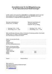 Anmeldeformular für die Mittagsbetreuung an der Sekundarschule ...