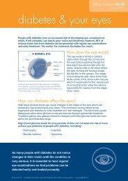 diabetes & your eyes - Australian Diabetes Council