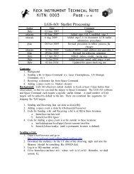 Keck Instrument Technical Note KITN: 0003 - WM Keck Observatory
