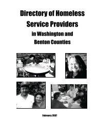 Directory of Homeless Service Providers - University of Arkansas