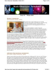 Issue 10 — Winter 2011 - WM Keck Observatory