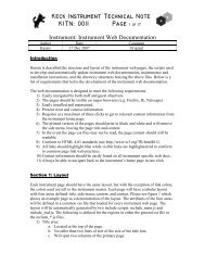 Keck Instrument Technical Note KITN: 0011