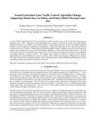 LTCS [PDF 670kB] - WM Keck Observatory - University of Hawaii