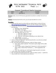 Keck Instrument Technical Note KITN: 0012 Page 1 of 5