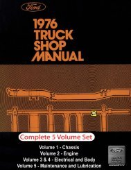DEMO - 1976 Ford Truck Shop Manual - ForelPublishing.com