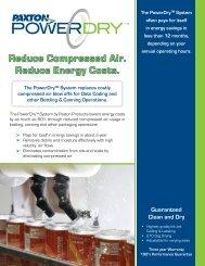 Reduce Compressed Air. Reduce Energy Costs. - Raab Sales