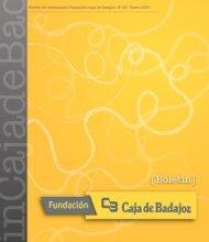 Boletín Fundación Caja de Badajoz. Nº 26 - Enero 2015