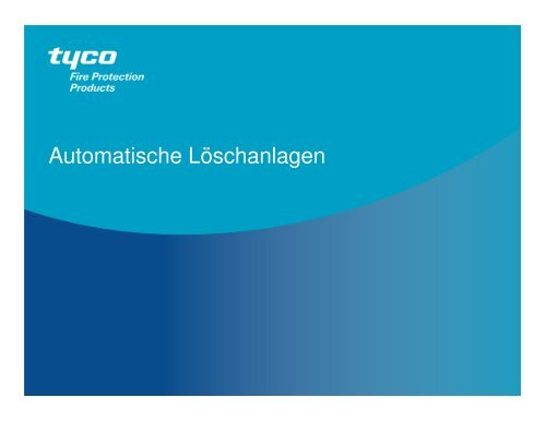 Tyco FPP Allgemein Sprinkler 092013