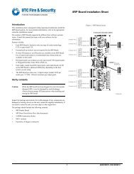 8RP Board Installation Sheet - UTCFS Global Security Products
