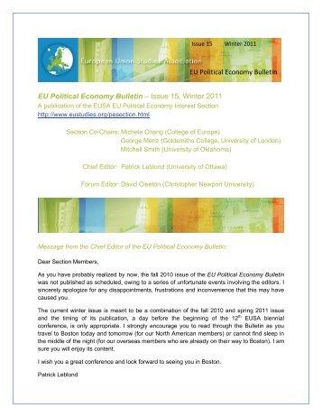 Winter 2011 - European Union Studies Association