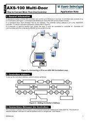AXS-100 Multi-Door - Visonic Technologies