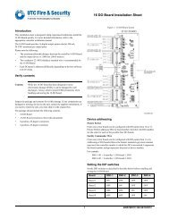 16 DO Board Installation Sheet - UTCFS Global Security Products