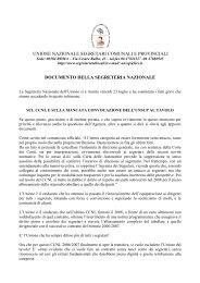 un documento affronta i temi del contratto e dell'agenzia - unscp