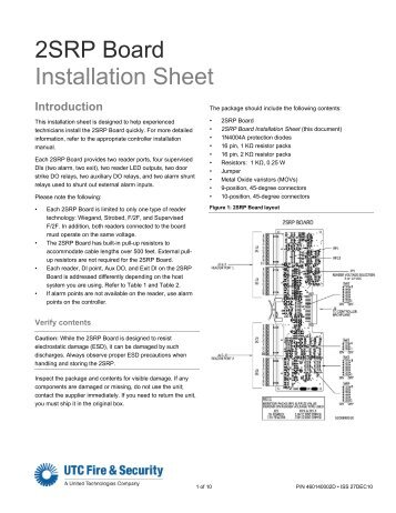 2srp board installation sheet utcfs global security products?quality=85 wiegand interface unit four state (wiu 4) utcfs global security wiu-2 wiring diagram at gsmx.co