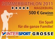 SOMMERBIATHLON 2011 MAGDEBURG 500 ... - Intersport GROSSE