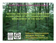 Sustainable Forest Management in the South