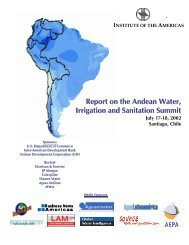Report on the Andean Water, Irrigation and Sanitation Summit