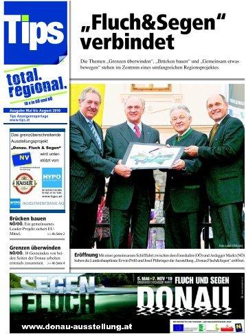 """""""Fluch&Segen;"""" verbindet, Tips 12. Mai 2010 - Region Strudengau"""