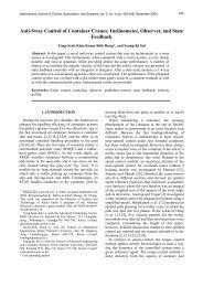 Anti-Sway Control of Container Cranes: Inclinometer ... - IJCAS