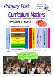 Primary Post Curriculum Matters Year 2 Autumn 1 2007