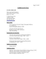 Dr. Choe's CV - University of South Florida