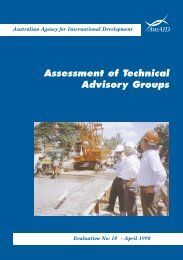 Assessment of Technical Advisory Groups - AusAID