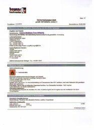 Sicherheitsdatenblatt Cuisine Noblesse Trennfettspray - Intergast