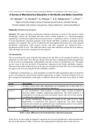 A Survey of Mechatronics Education in the Nordic and Baltic ...