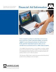 Financial Aid Information - University of Mary