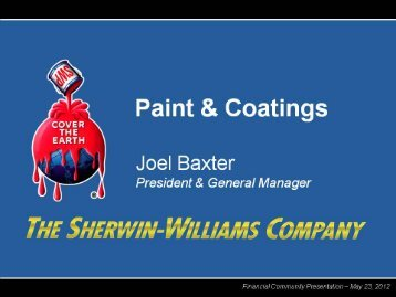 Paint & Coatings - Sherwin-Williams