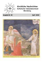 Ausgabe Nr. 30, April 2010 - Katholische Pfarrei St. Norbert Merseburg
