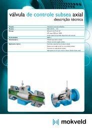 válvula de controle subsea axial