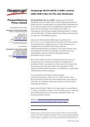 Pressemitteilung Press release - Hauppauge