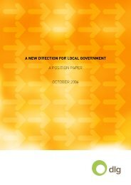 A New Direction for Local Government - Division of Local ...
