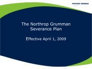 Grumman Severance Plan Briefing March 2009 - Benefits Online
