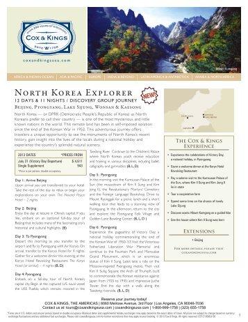 North Korea Explorer - Cox & Kings