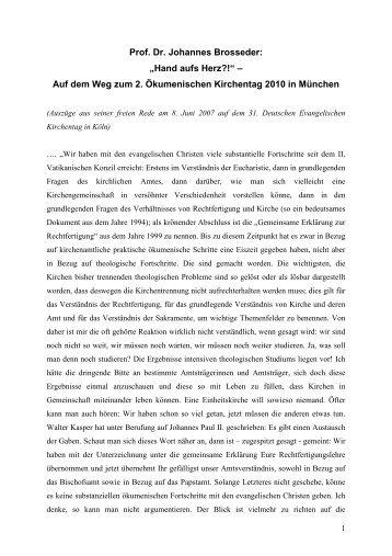 Prof. Dr. Johannes Brosseder - Wir sind Kirche