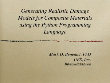 Generating Realistic Damage Models for Composite Materials using ...