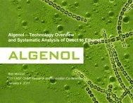 Algenol – Technology Overview and Systematic Analysis of Direct to ...