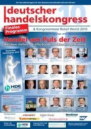 Handel am Puls der Zeit - Deutscher Handelskongress