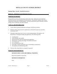 JOB DESCRIPTION TEMPLATE - Douglas County School District