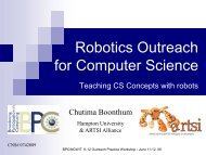 Robotics Outreach for Computer Science - National Center for ...