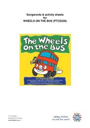 Songwords & activity sheets for WHEELS ON THE BUS - Imaginarium