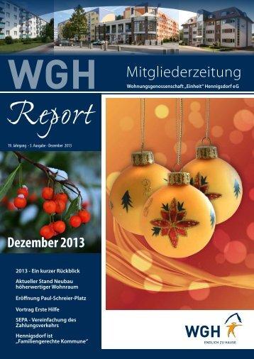 """Mitgliederzeitung - Wohnungsgenossenschaft """"Einheit"""" Hennigsdorf ..."""