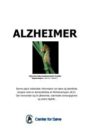 folder om Alzheimer - Center for døve