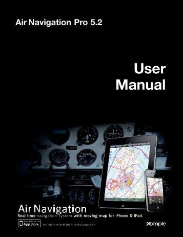 Air Navigation Pro 5.2 User Manual - Xample