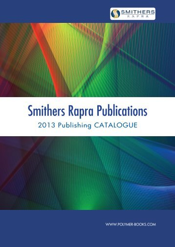 download our 2013 catalogue - Smithers Rapra