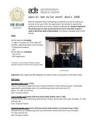 Special ADE Dylan Hotel deals 2008 - Buma Cultuur