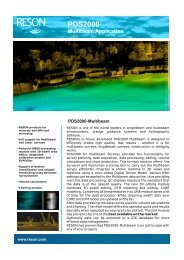 PDS2000 Multibeam Application - Teledyne Reson