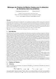 Mélanges de Chaînes de Markov lissées pour la détection de ... - UCL
